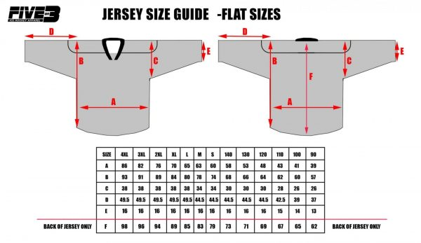 Replica Kit Sizing Chart