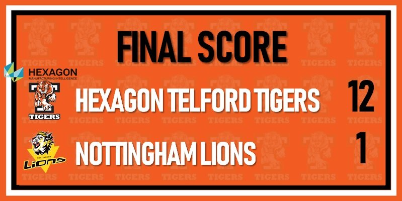 Telford Tigers 1 vs Nottingham Lions Sept 1st 800w