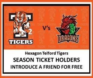 Tigers 2 vs Dragons - Introduce a friend for free