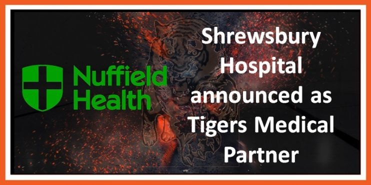 Nuffield Health announced as Tigers Medical Partner 06-06-2019