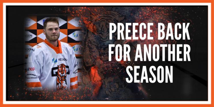 Preece back for another Preece back for another season