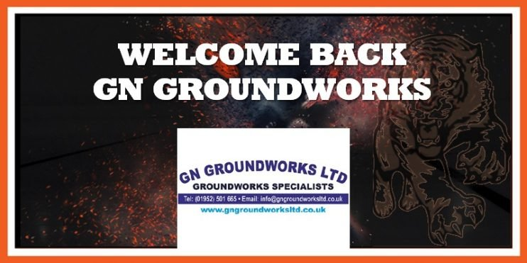GN Groundworks announced as Tigers sponsor 13-09-2019 800w