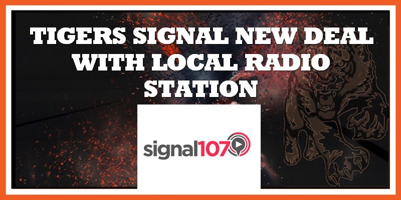 Signal 107 announced as Tigers sponsor 13-09-2019 800w