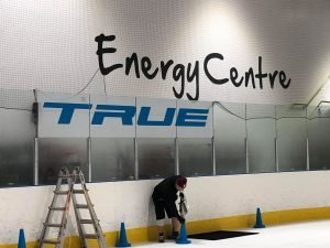 TRUE-Logo-being-installed