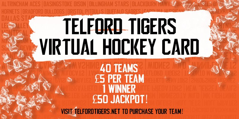 Tigers virtual hockey card