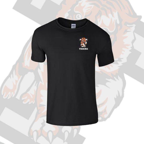 Black T Shirt Small Tiger T