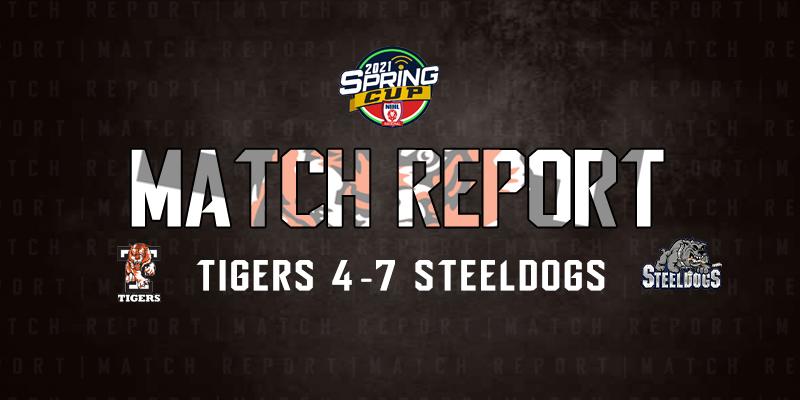 Tigers 4 Steeldogs 7